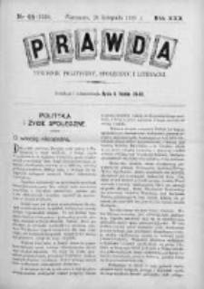 Prawda. Tygodnik polityczny, społeczny i literacki 1910, Nr 48