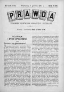 Prawda. Tygodnik polityczny, społeczny i literacki 1910, Nr 49
