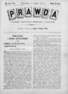 Prawda. Tygodnik polityczny, społeczny i literacki 1911, Nr 6