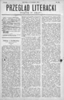 """Przegląd Literacki. Dodatek do """"Kraju"""" tygodnika polityczno-społecznego wydawanego w Petersburgu od roku 1882. 1887, nr 33"""