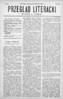 """Przegląd Literacki. Dodatek do """"Kraju"""" tygodnika polityczno-społecznego wydawanego w Petersburgu od roku 1882. 1887, nr 39"""
