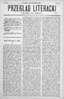 """Przegląd Literacki. Dodatek do """"Kraju"""" tygodnika polityczno-społecznego wydawanego w Petersburgu od roku 1882. 1887, nr 40"""
