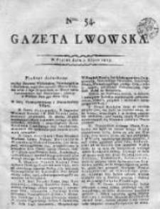 Gazeta Lwowska 1815 II, Nr 54