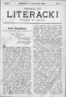 """Przegląd Literacki. Dodatek do """"Kraju"""" tygodnika polityczno-społecznego wydawanego w Petersburgu od roku 1882. 1888, nr 11"""