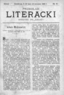 """Przegląd Literacki. Dodatek do """"Kraju"""" tygodnika polityczno-społecznego wydawanego w Petersburgu od roku 1882. 1888, nr 31"""