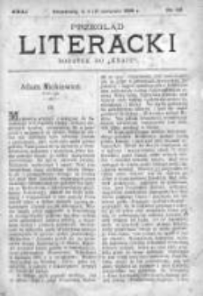 """Przegląd Literacki. Dodatek do """"Kraju"""" tygodnika polityczno-społecznego wydawanego w Petersburgu od roku 1882. 1888, nr 32"""