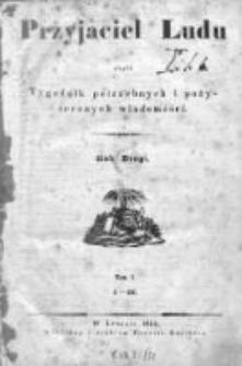 Przyjaciel Ludu czyli Tygodnik potrzebnych i pożytecznych wiadomości 1835/36, R. 2, nr 1