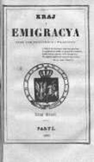 Kraj i Emigracja. Zbiór pism politycznych i wojskowych Rok 1835, Z. 3