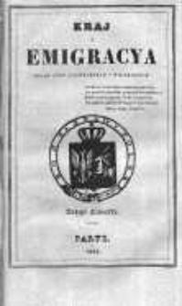 Kraj i Emigracja. Zbiór pism politycznych i wojskowych Rok 1836, Z. 4