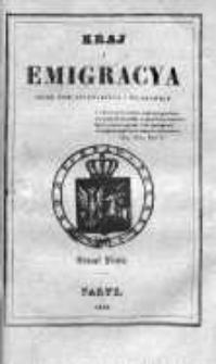 Kraj i Emigracja. Zbiór pism politycznych i wojskowych Rok 1836, Z. 5