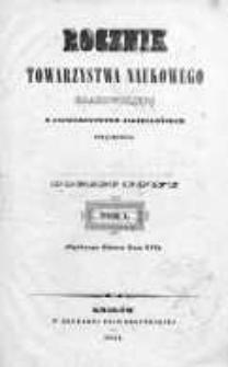 Rocznik Towarzystwa Naukowego z Uniwersytetem Krakowskim połączonego 1841, R. 16, Nr 1