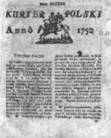 Kuryer Polski 1750, Nr 722