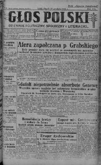 Głos Polski : dziennik polityczny, społeczny i literacki 10 grudzień 1926 nr 339