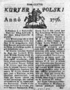 Kuryer Polski 1756, Nr 168