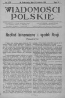 Wiadomości Polskie 4 1918-1919, Nr 176