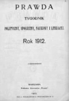 Prawda. Tygodnik polityczny, społeczny i literacki 1912, Nr 1