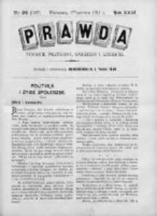 Prawda. Tygodnik polityczny, społeczny i literacki 1911, Nr 24