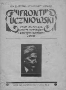 Front uczniowski. Organ Br[atniej] Pom[ocy] Ucz[niów] Liceum i Gimnazjum C. Epsztejna i J Szpajzera w Wilnie 1938, Rok IV, Nr 9