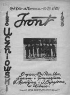 Front uczniowski. Organ Br[atniej] Pom[ocy] Ucz[niów] Liceum i Gimnazjum C. Epsztejna i J Szpajzera w Wilnie 1939, Rok V, Nr 12