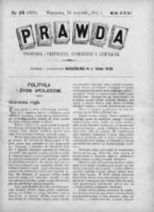 Prawda. Tygodnik polityczny, społeczny i literacki 1911, Nr 38