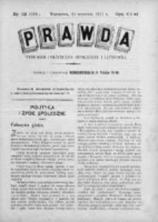 Prawda. Tygodnik polityczny, społeczny i literacki 1911, Nr 39