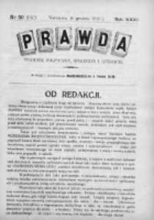 Prawda. Tygodnik polityczny, społeczny i literacki 1911, Nr 50