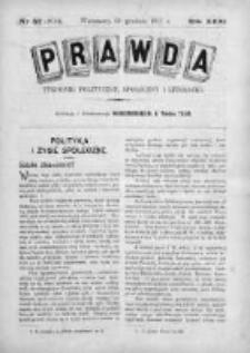 Prawda. Tygodnik polityczny, społeczny i literacki 1911, Nr 52