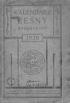 Kalendarz Leśny Informacyjny 1930 V