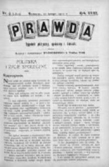 Prawda. Tygodnik polityczny, społeczny i literacki 1912, Nr 6