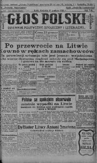 Głos Polski : dziennik polityczny, społeczny i literacki 19 grudzień 1926 nr 348