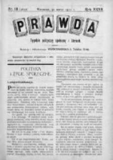Prawda. Tygodnik polityczny, społeczny i literacki 1912, Nr 13
