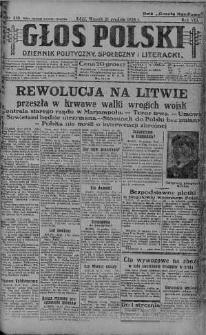 Głos Polski : dziennik polityczny, społeczny i literacki 21 grudzień 1926 nr 350