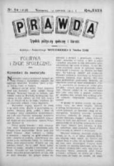 Prawda. Tygodnik polityczny, społeczny i literacki 1912, Nr 24