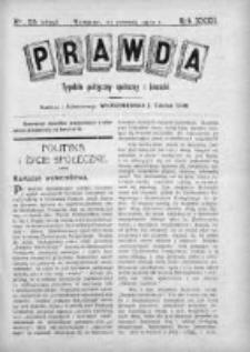 Prawda. Tygodnik polityczny, społeczny i literacki 1912, Nr 25