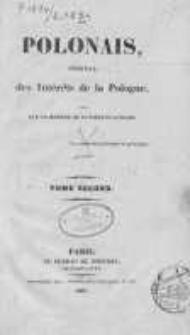 Le Polonais, journal des Intérêts de la Pologne, dirigé par un membre de la diète polonaise 1834 II