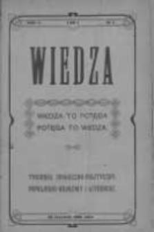 Wiedza. Tygodnik społeczno-polityczny, popularno-naukowy i literacki 1908, Rok II, Tom I, Nr 4