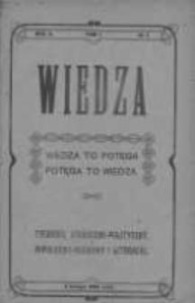 Wiedza. Tygodnik społeczno-polityczny, popularno-naukowy i literacki 1908, Rok II, Tom I, Nr 5