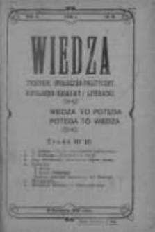 Wiedza. Tygodnik społeczno-polityczny, popularno-naukowy i literacki 1908, Rok II, Tom I, Nr 16