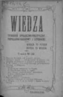 Wiedza. Tygodnik społeczno-polityczny, popularno-naukowy i literacki 1909, Rok III, Tom II, Nr 29