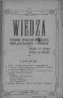 Wiedza. Tygodnik społeczno-polityczny, popularno-naukowy i literacki 1909, Rok III, Tom II, Nr 32