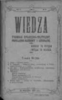 Wiedza. Tygodnik społeczno-polityczny, popularno-naukowy i literacki 1909, Rok III, Tom II, Nr 39