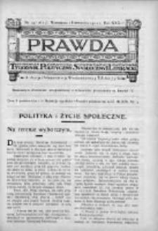 Prawda. Tygodnik polityczny, społeczny i literacki 1912, Nr 39