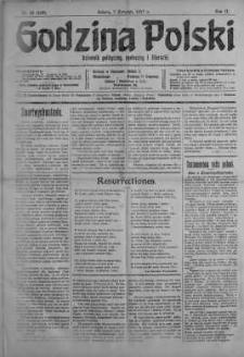 Godzina Polski : dziennik polityczny, społeczny i literacki 7 kwiecień 1917 nr 95