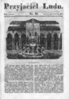 Przyjaciel Ludu czyli Tygodnik potrzebnych i pożytecznych wiadomości 1836/37, R. 3, nr 28