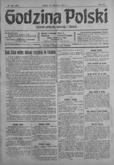 Godzina Polski : dziennik polityczny, społeczny i literacki 13 kwiecień 1917 nr 99