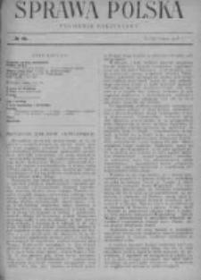 Sprawa Polska. Tygodnik polityczny 1916, R. 2, Tom I, Nr 10