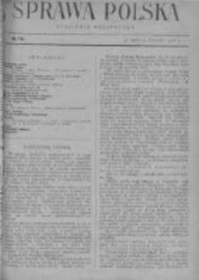 Sprawa Polska. Tygodnik polityczny 1916, R. 2, Tom I, Nr 13