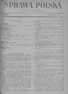 Sprawa Polska. Tygodnik polityczny 1916, R. 2, Tom I, Nr 14