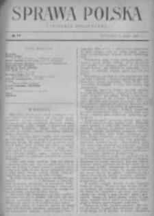 Sprawa Polska. Tygodnik polityczny 1916, R. 2, Tom I, Nr 17