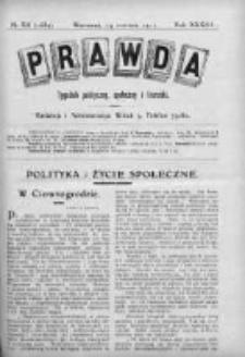Prawda. Tygodnik polityczny, społeczny i literacki 1913, Nr 24